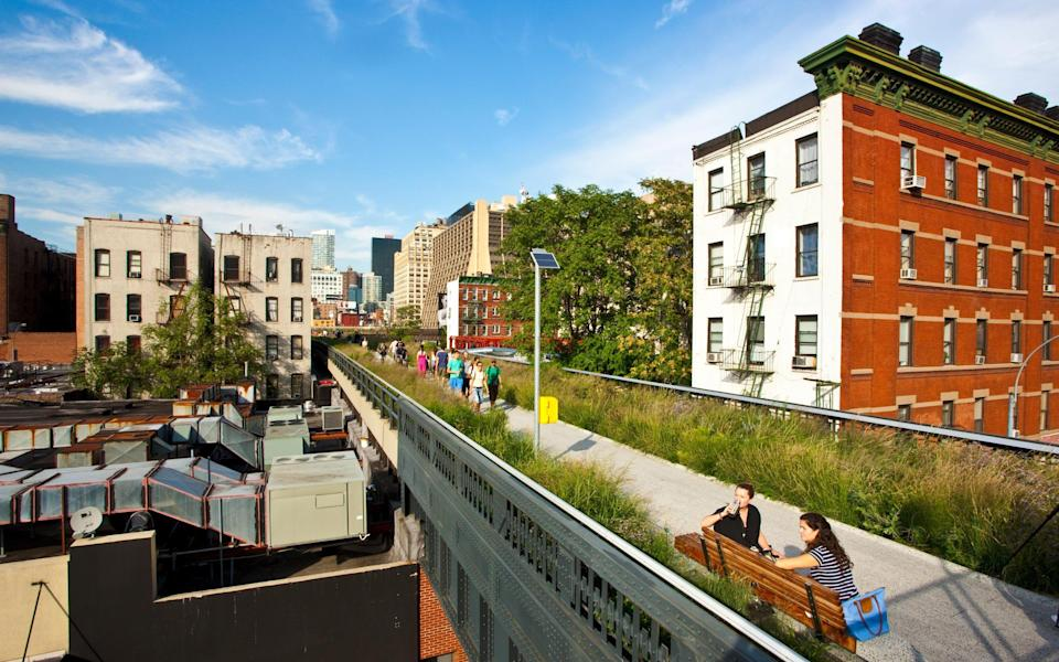 The New York High Line opened in 2009 - Getty