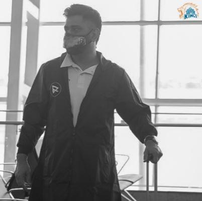 CSK Skipper MS Dhoni Departs For UAE For IPL 2021
