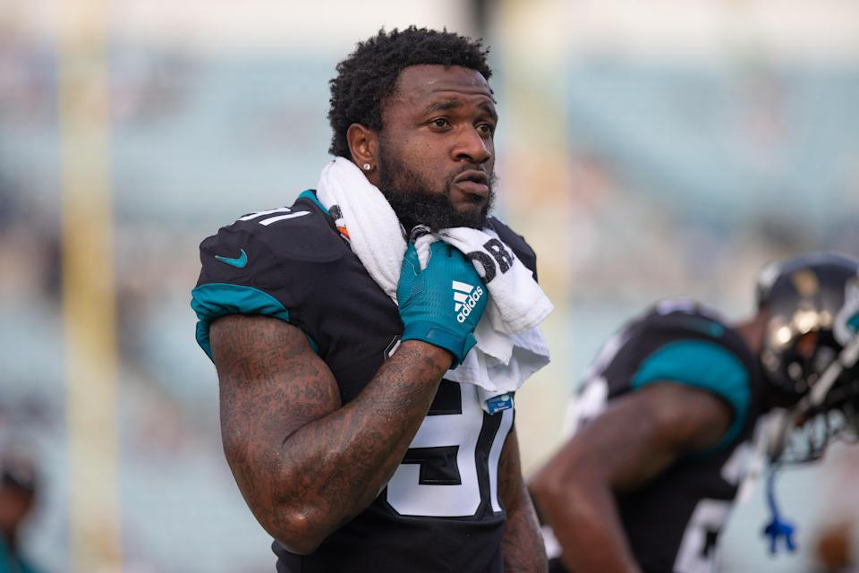 Yannick Ngakoue has failed to show up to Jaguars training camp after spending the offseason begging to be traded. (Photo by David Rosenblum/Icon Sportswire via Getty Images)