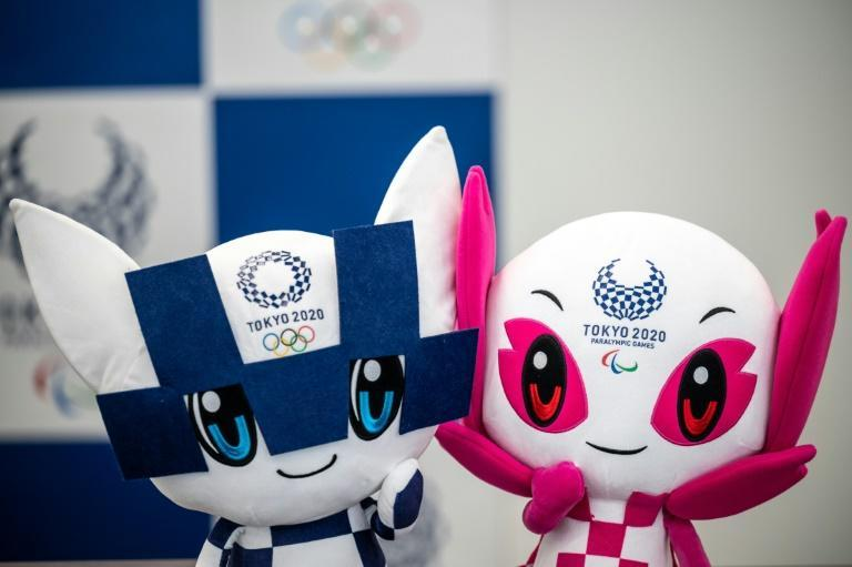 Miraitowa (L) and Someity (R) are the mascots for the Tokyo 2020 Olympic and Paralympic Games