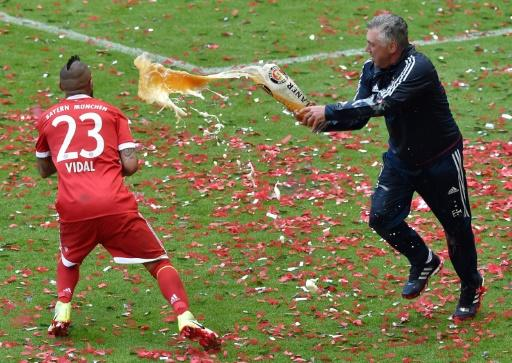 Carlo Ancelotti (R) has always had a playful side to his nature which will serve him well on Merseyside