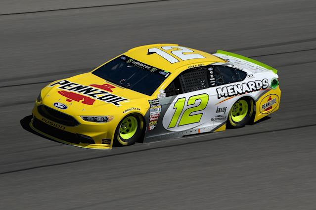 "<a class=""link rapid-noclick-resp"" href=""/nascar/nationwide/drivers/3085"" data-ylk=""slk:Ryan Blaney"">Ryan Blaney</a>'s Las Vegas car is hideous. (Getty)"