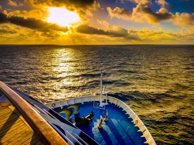View from the deck of a Norwegian Cruise Line vessel. (Facebook)