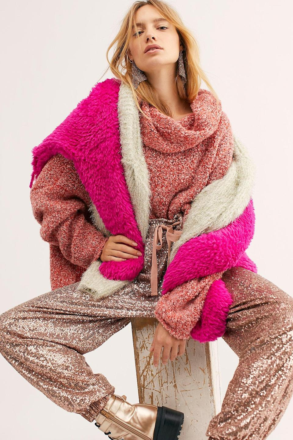 """<p>Get this <a href=""""https://www.popsugar.com/buy/Bff-Sweater-527163?p_name=Bff%20Sweater&retailer=freepeople.com&pid=527163&price=98&evar1=fab%3Aus&evar9=45460327&evar98=https%3A%2F%2Fwww.popsugar.com%2Ffashion%2Fphoto-gallery%2F45460327%2Fimage%2F46978014%2FBff-Sweater&list1=shopping%2Cgifts%2Cfree%20people%2Choliday%2Cgift%20guide%2Cgifts%20for%20women&prop13=api&pdata=1"""" class=""""link rapid-noclick-resp"""" rel=""""nofollow noopener"""" target=""""_blank"""" data-ylk=""""slk:Bff Sweater"""">Bff Sweater</a> ($98) for your friend who wants to be cozy.</p>"""