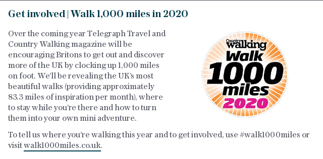 Get involved   Walk 1,000 miles in 2020