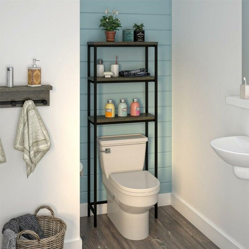 """<p>You can put products and plants on this <a href=""""https://www.popsugar.com/buy/Viera-Over-Toilet-582066?p_name=Viera%20Over%20the%20Toilet&retailer=wayfair.com&pid=582066&price=120&evar1=casa%3Aus&evar9=45654164&evar98=https%3A%2F%2Fwww.popsugar.com%2Fphoto-gallery%2F45654164%2Fimage%2F47574142%2FViera-Over-Toilet&list1=shopping%2Corganization%2Chome%20organization%2Cbest%20of%202020&prop13=api&pdata=1"""" rel=""""nofollow"""" data-shoppable-link=""""1"""" target=""""_blank"""" class=""""ga-track"""" data-ga-category=""""Related"""" data-ga-label=""""https://www.wayfair.com/storage-organization/pdp/williston-forge-viera-2362-w-x-6331-h-over-the-toilet-w001575572.html"""" data-ga-action=""""In-Line Links"""">Viera Over the Toilet</a> ($120).</p>"""