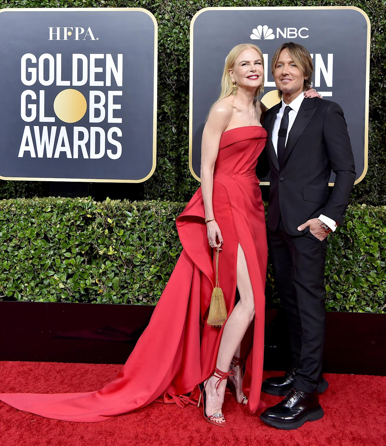 BEVERLY HILLS, CALIFORNIA - JANUARY 05: Nicole Kidman and Keith Urban attend the 77th Annual Golden Globe Awards at The Beverly Hilton Hotel on January 05, 2020 in Beverly Hills, California. (Photo by Axelle/Bauer-Griffin/FilmMagic)