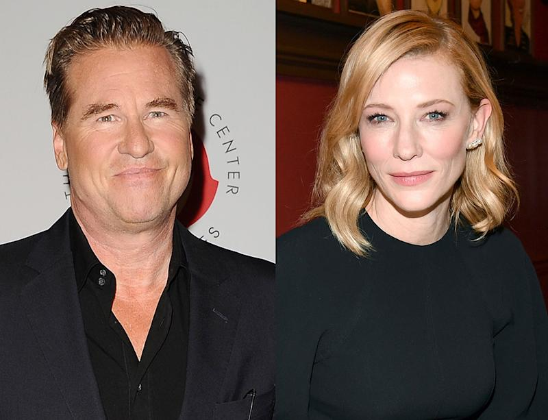 Val Kilmer has a megacrush on Cate Blanchett. (Photos: Getty Images)