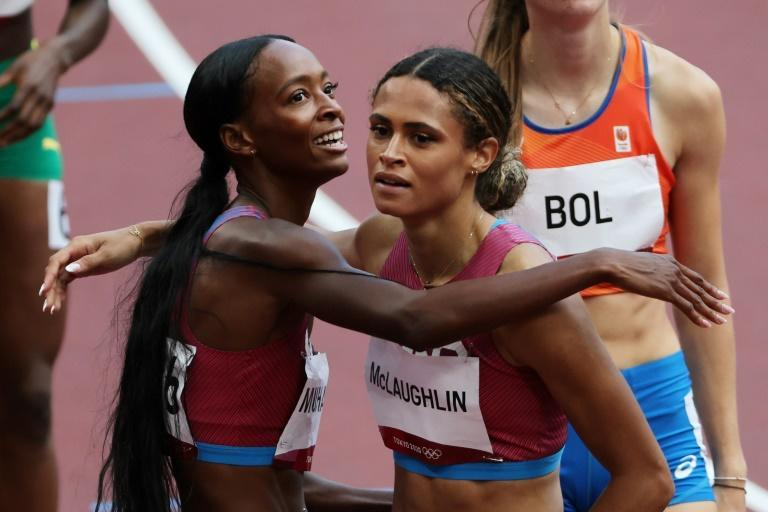 Sydney McLaughlin won her latest battle with fellow American Dalilah Muhammad when it mattered most