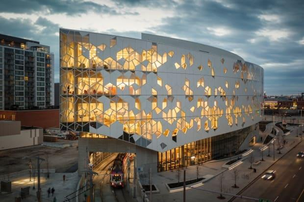 Calgary Central Library's new location opened in 2018 with the support of Mayor Naheed Nenshi.