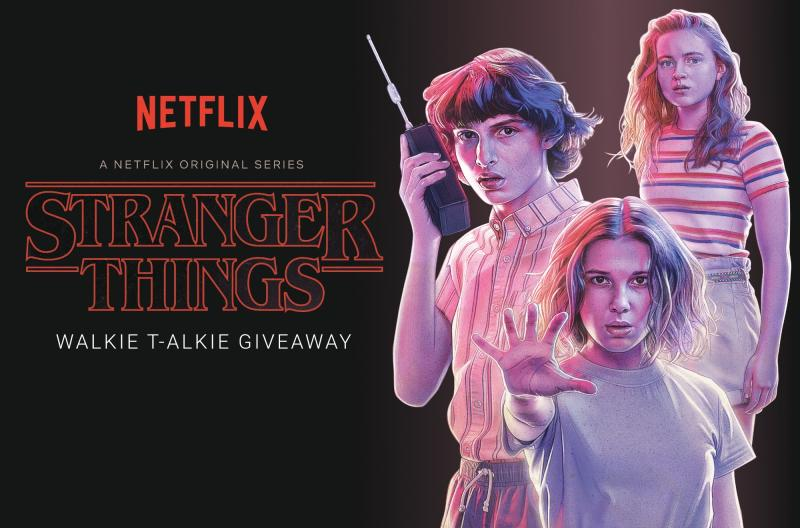 Enter EW's Stranger Things Walkie T-ALKIE giveaway sweepstakes