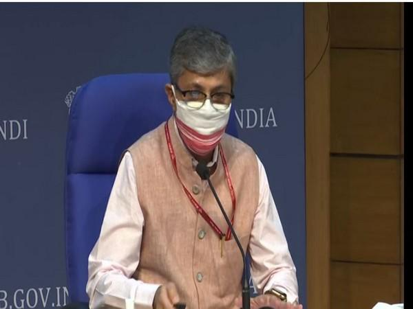 Secretary, Ministry of Ayush speaking during press conference in New Delhi on Tuesday. Photo/ANI