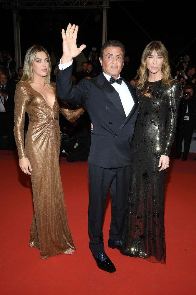Sylvester Stallone with daughter Sistine and wife Jennifer | Gisela Schober/Getty