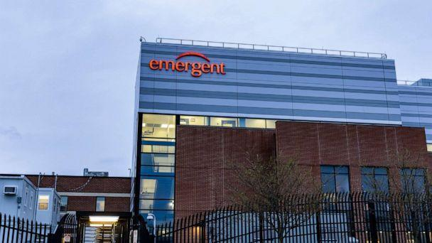 PHOTO: The Emergent BioSolutions plant on April 01, 2021, in Baltimore. (Tasos Katopodis/Getty Images, FILE)