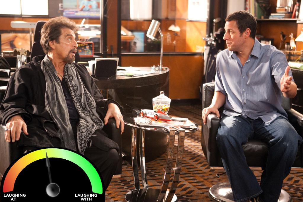 """<b>Al Pacino </b><br>""""<a href=""""http://movies.yahoo.com/movie/jack-and-jill-2011/"""">Jack & Jill</a>"""" (2011)<br>If Pacino wasn't the Godfather, his percentage would be much worse; however, respect must be paid. But really, Mr. Pacino, did you read the script?"""