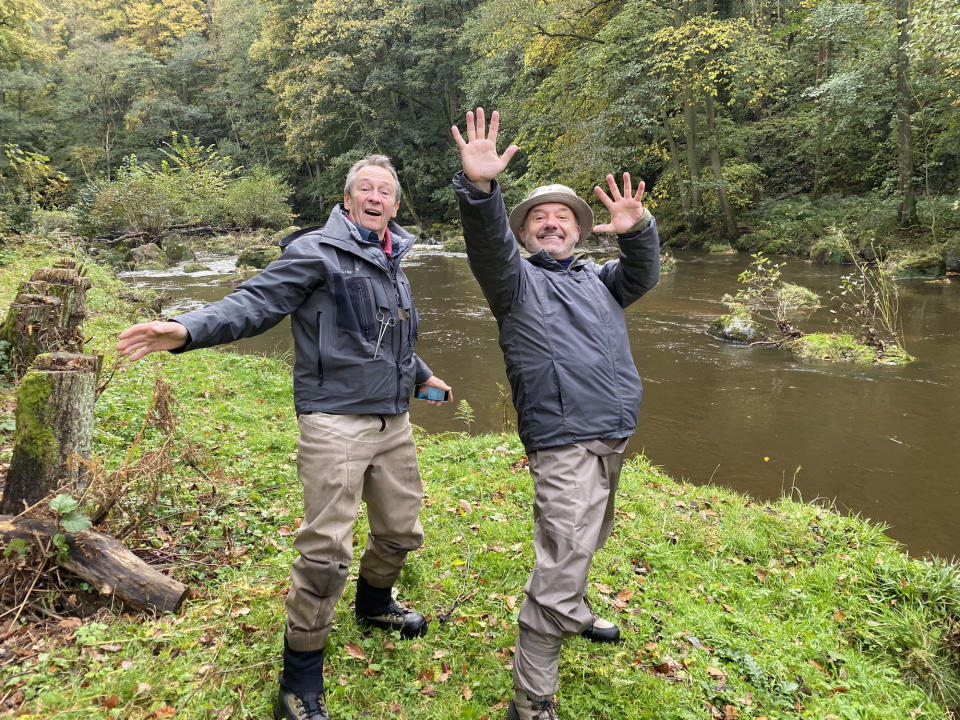 Oon the River Esk. Paul Whitehouse, Bob Mortimer - (Owl Power - Photographer: Owl Power)