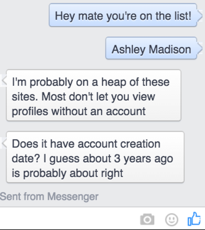 Luke Metcalfe contacted his friends after finding their names on the Ashley Madison hack database. Photo: Supplied