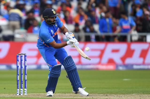India's Rohit Sharma was in fine form against Pakistan (AFP Photo/Dibyangshu SARKAR)