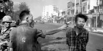 South Vietnamese General Nguyen Ngoc Loan, chief of the National Police, fires his pistol into the head of a suspected Viet Cong officer Nguyen Van Lem (also known as Bay Lop) on a Saigon street, February 1, 1968, early in the Tet Offensive. AP Photo/Eddie Adams