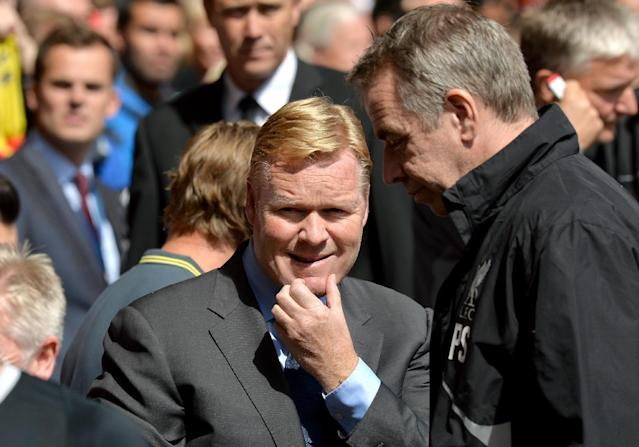 Southampton's Dutch manager Ronald Koeman arrives for the English Premier League football match between Liverpool and Southampton at Anfield stadium in Liverpool on August 17, 2014 (AFP Photo/Paul Ellis)