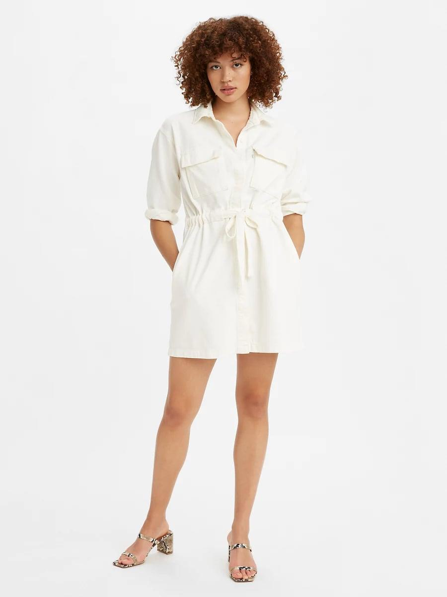 <p>Style the <span>Levi's Ainsley Utility Denim Dress</span> ($65, originally $80) with sandals or sneakers.</p>