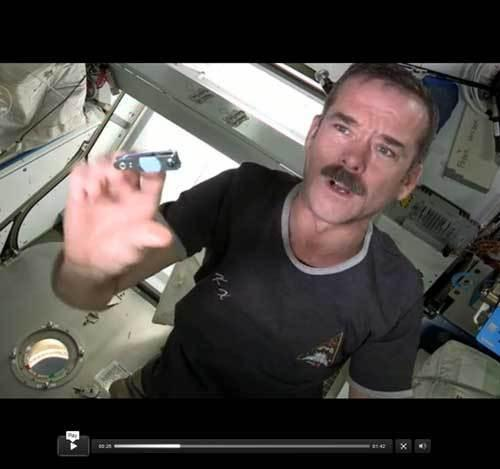 Astronaut's Video Reveals Secret of Zero-G Fingernail Clipping