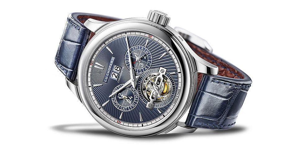 <p>Chopard is known as one of the greats – and with good reason. After winning watch of the year for their 'L.U.C Full Strike' at the 2017 Geneva Watchmaking Grand Prix, they're back with a familiar (yet no less exciting) watch for 2018.</p><p>The L.U.C All-in-One combines exclusivity with well-known myth. Only ten watches in each edition (rose gold and platinum) were made - but the stimulus behind them is one most people will be familiar with. </p><p>Inspired by the Roman god Janus - famed for his two faces - this watch has two dials. It also bears some godly insides, too, with features that include a perpetual calendar, astronomical readings and a tourbillon – a complex rotating mechanical system which takes great skill to make. Sure, it may set you back a hefty £374,000 (bearing in mind the current condition of the exchange rate) but it's safe to say you can't put a price on divine power.</p>