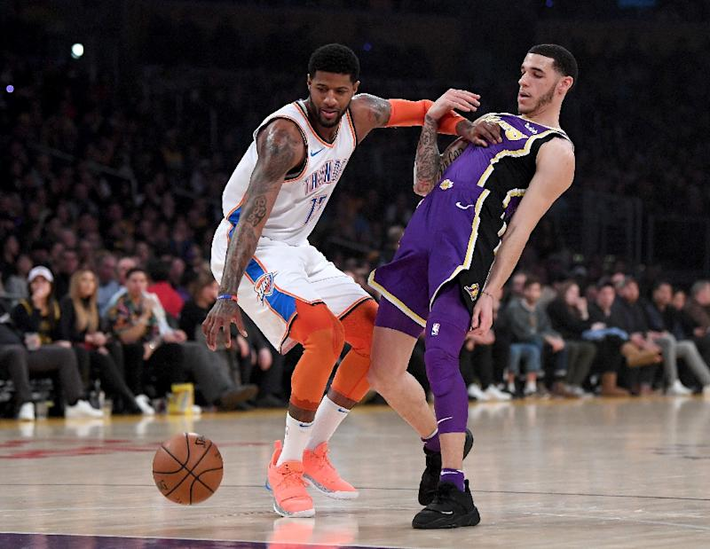 huge selection of 24d9a 64674 George ignores boo boys as Thunder sink Lakers