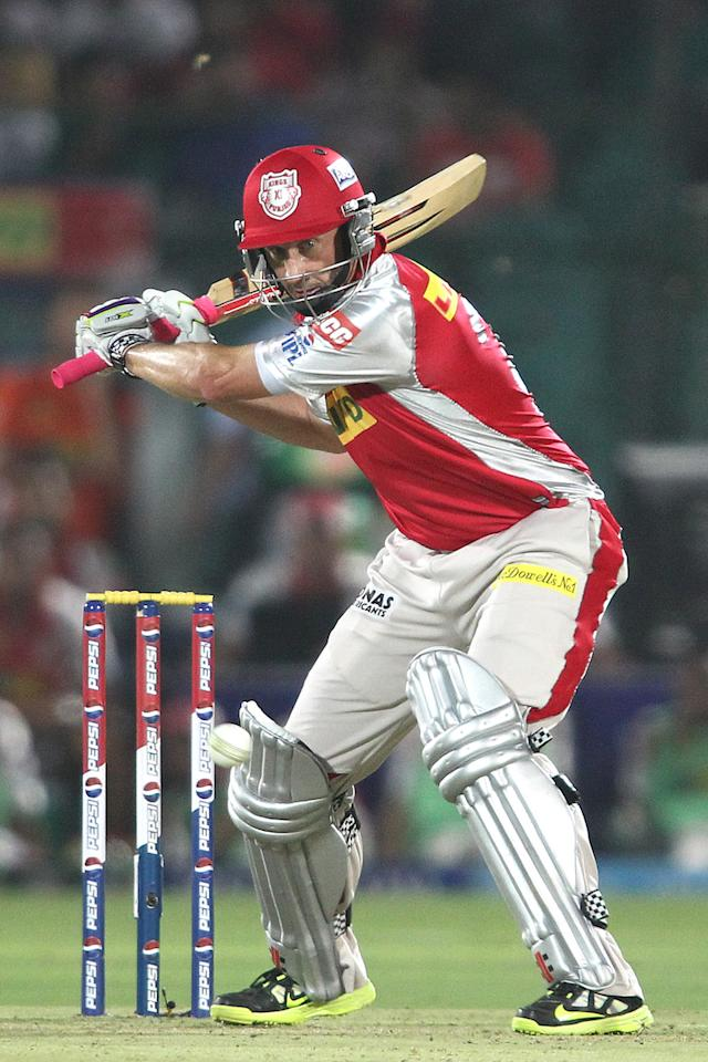 David Hussey of Kings XI Punjab looks to attack a delivery during match 18 of the Pepsi Indian Premier League (IPL) 2013 between The Rajasthan Royals and the Kings Xi Punjab held at the Sawai Mansingh Stadium in Jaipur on the 14th April 2013..Photo by Shaun Roy-IPL-SPORTZPICS  ..Use of this image is subject to the terms and conditions as outlined by the BCCI. These terms can be found by following this link:..https://ec.yimg.com/ec?url=http%3a%2f%2fwww.sportzpics.co.za%2fimage%2fI0000SoRagM2cIEc&t=1490821531&sig=nOWW.pG9Hk4wG3M_8pDOmg--~C