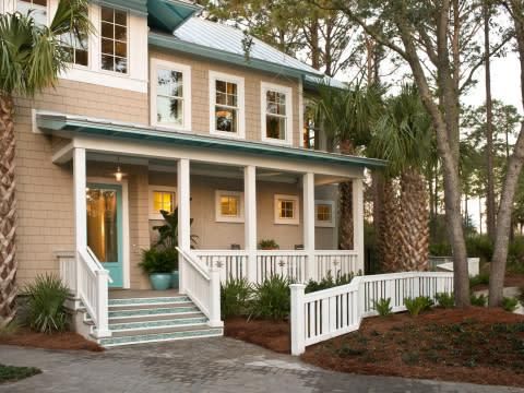 The design of HGTV Smart Home 2013 is inspired by shingle-style vacation homes constructed in Atlant ...
