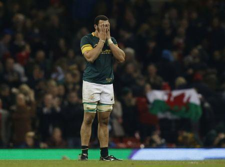 Rugby Union Britain - Wales v South Africa - Principality Stadium, Cardiff, Wales - 26/11/16 South Africa's Uzair Cassiem looks dejected at the end of the match Action Images via Reuters / Paul Childs Livepic.