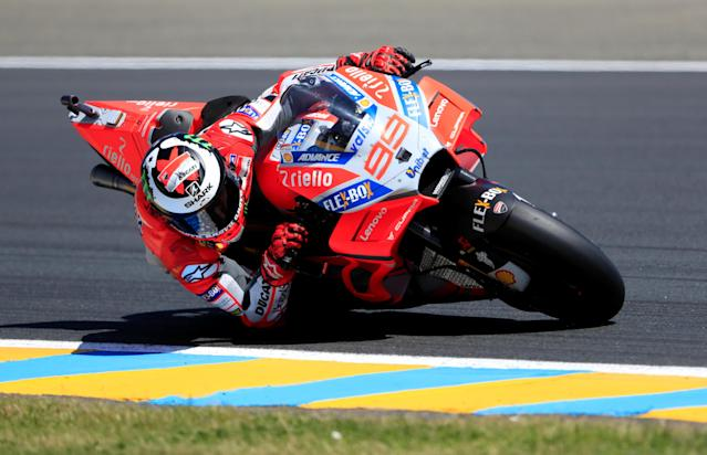 Motorcycling - MotoGP - French Grand Prix - Bugatti Circuit, Le Mans, France - May 19, 2018 Ducati Corse's Jorge Lorenzo during qualifying REUTERS/Gonzalo Fuentes