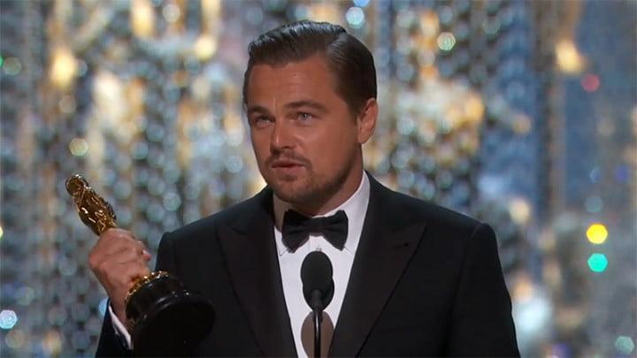 dicaprio oscars twitter record leonardo wins 2016 best actor oscar