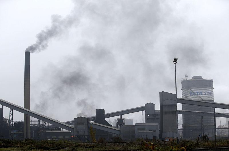 FILE PHOTO: File photograph of the steel works in Scunthorpe