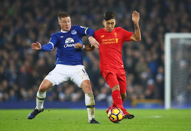 James McCarthy and Roberto Firmino