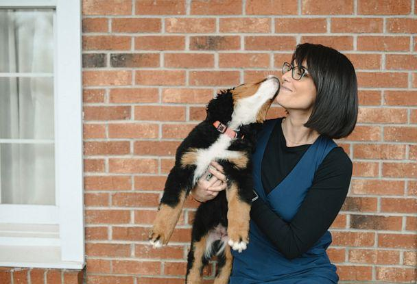 PHOTO: Owner, tori McKay, pictured with Bernese Mountain Dog, Mochi, at Macon Funeral Home in Franklin, North Carolina. (Credit: Courtesy of Callie Lynch Photography)