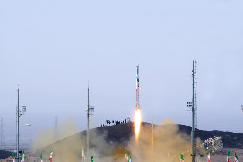 This photo released on Saturday, Dec. 14, 2013 by the Iranian Students New Agency, ISNA, claims to show a launch of the rocket dubbed Pajohesh, or Research in Farsi, in an undisclosed location in Iran. Iran said Saturday it has successfully sent a monkey into space for a second time, part of an ambitious program aimed at manned space flight. Iran's state TV said that the launch of the rocket was Iran's first use of liquid fuel. It said the monkey, named Fargam or Auspicious, was returned to earth safely. (AP Photo/Iranian Students News Agency) EDS NOTE: THE ASSOCIATED PRESS HAS NO WAY OF INDEPENDENTLY VERIFYING THE CONTENT, LOCATION OR DATE OF THIS IMAGE.