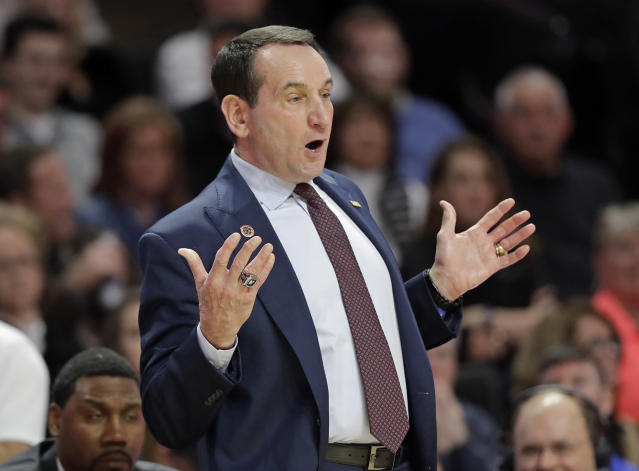 Mike Krzyzewski and Duke aren't winning the ACC this season. (AP)