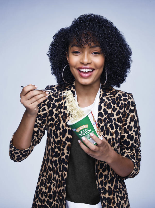 Yara Shahidi as Zoey Johnson in <em>Grown-ish.</em> (Photo: Freeform/Andrew Eccles)