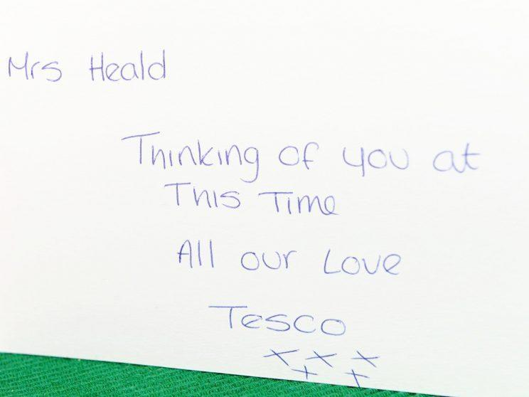 The note that Tesco sent Linda [SWNS]