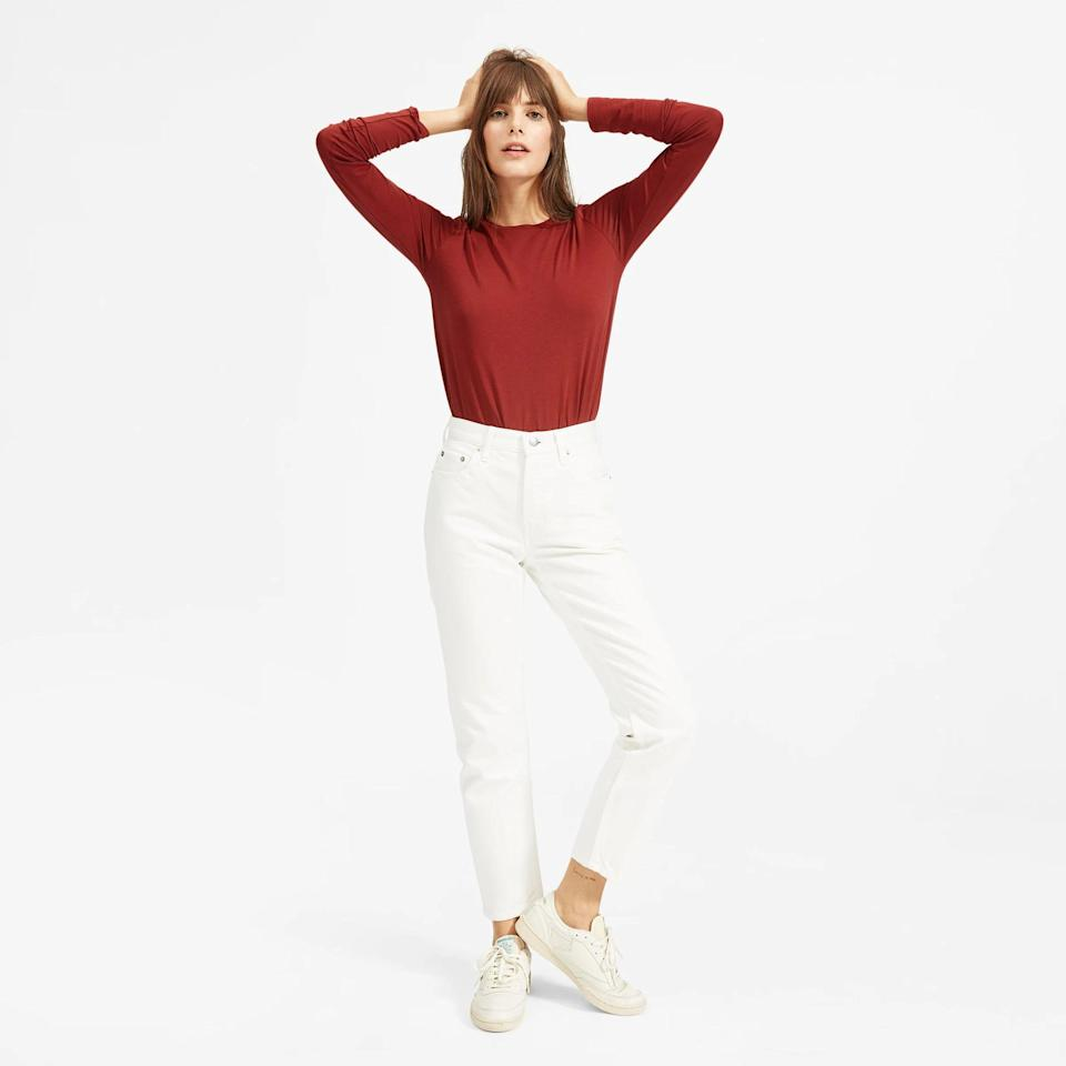 <p>The <span>Everlane '90s Cheeky Jean</span> ($78) comes in a curve fit, too, and you can choose the option for regular length or ankle length. The size guide is said to be reliable, and fear not if they feel tight at first - customers say they have give after a couple of wears.</p>