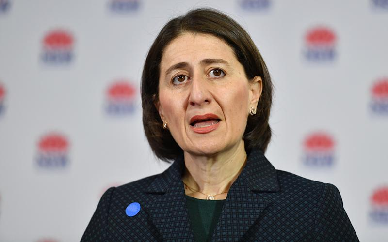 NSW Premier Gladys Berejiklian briefs the media on the easing of restrictions during a press conference in Sydney. Source: AAP