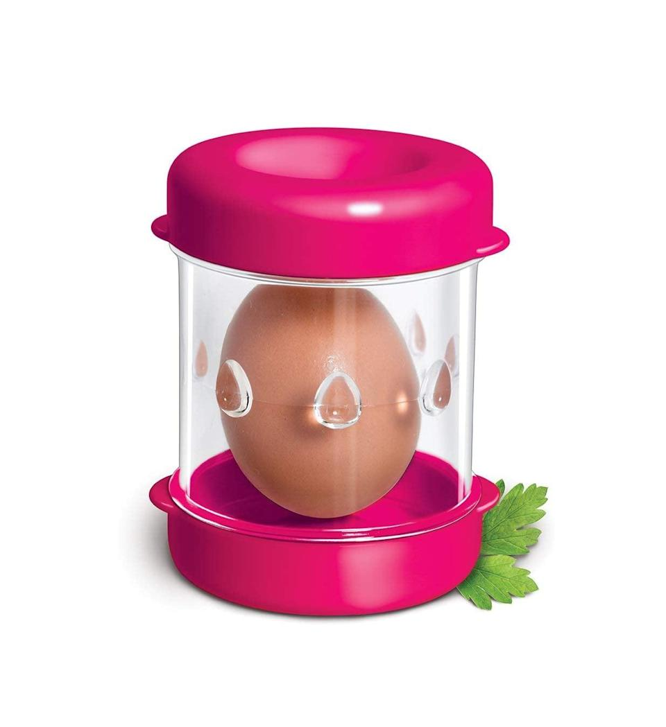 <p>Hate peeling eggs? This genius <span> The Negg Boiled Egg Peeler </span> ($15) is your solution.</p>