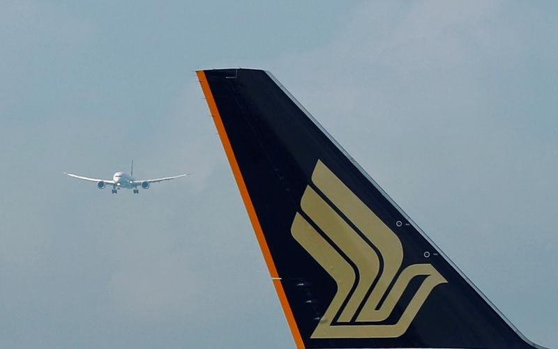 Singapore Airlines' first Boeing 787-10 Dreamliner prepares to land at Changi Airport