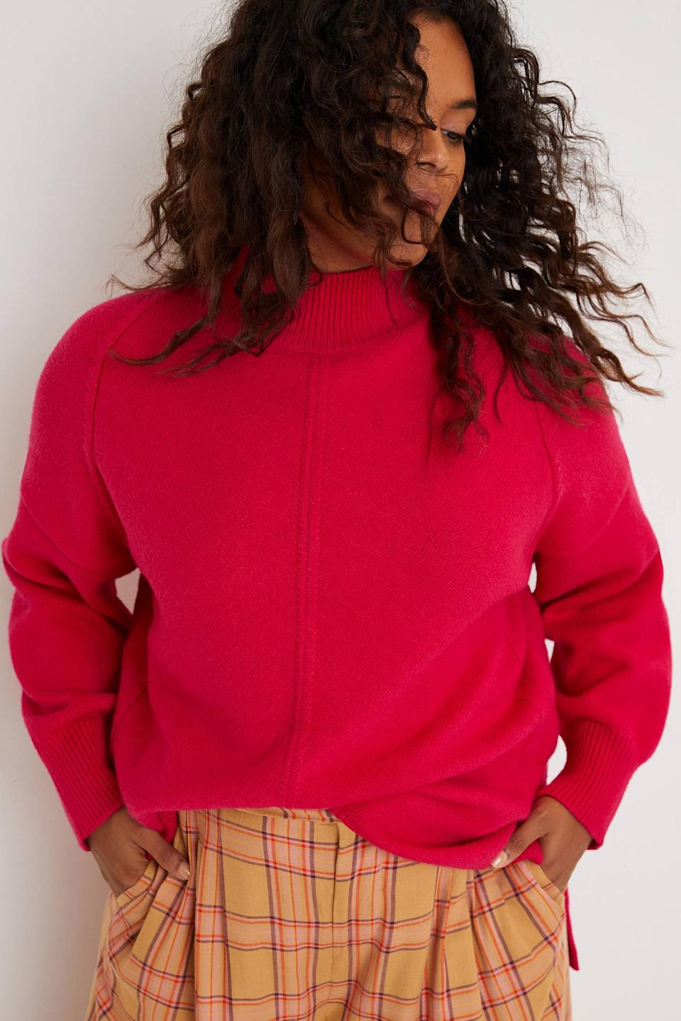 """<h2>Crystal Tunic Sweater<br></h2><br>A can't-miss shade of bougainvillea makes this sleek tunic sweater — rendered in a silky viscose blend — an above-average statement staple. (We're envisioning it over wide-legged sweats for an elegant, comfy-chic ensemble.) With six other colors to choose from and a size range that includes petite and plus, it's truly a fall crowd-pleaser.<br><br><strong>Maeve</strong> Crystal Tunic Sweater, $, available at <a href=""""https://go.skimresources.com/?id=30283X879131&url=https%3A%2F%2Fwww.anthropologie.com%2Fshop%2Fcrystal-tunic-sweater%3Fcategory%3Dtops-sweaters%26color%3D068%26type%3DSTANDARD%26quantity%3D1"""" rel=""""nofollow noopener"""" target=""""_blank"""" data-ylk=""""slk:Anthropologie"""" class=""""link rapid-noclick-resp"""">Anthropologie</a>"""