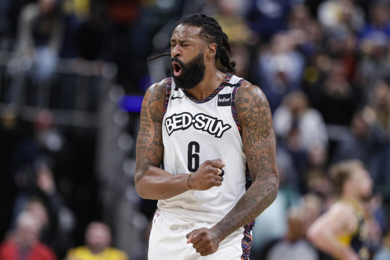 Center DeAndre Jordan will start for the Brooklyn Nets under interim head coach Jacque Vaughn. (AP Photo/Michael Conroy)