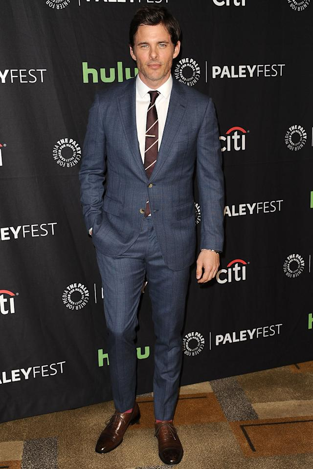 "<p>WHERE: At a 'Westworld' event at the Paley Center for Media's 34th annual PaleyFest in Hollywood</p><p>WHEN: March 25, 2017</p><p>WHY: Because pairing brown and blue is always a smart choice when you're getting dressed up.</p><p><a rel=""nofollow"" href=""http://www.gq.com/story/james-marsden-worlds-handsomest-man-isnt-more-famous?mbid=synd_yahoostyle"">RELATED: James Marsden is the World's Handsomest Man—So Why Isn't He More Famous?</a></p>"