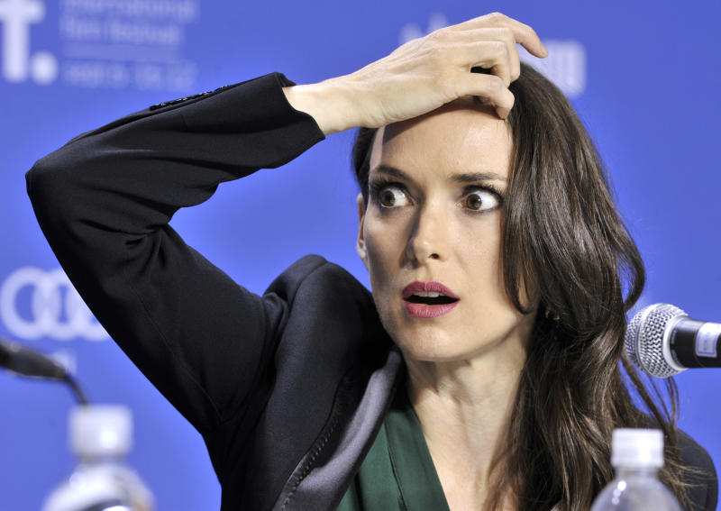 """Winona Ryder says a staged wedding ceremony for the 1992 film """"Dracula"""" might have been the real thing. (Mike Cassese / Reuters)"""
