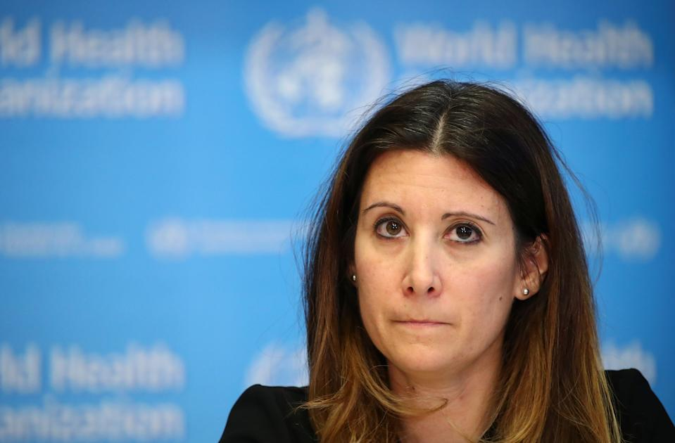 Technical Lead for the World Health Organization (WHO) Maria Van Kerkhove attends a news conference on the situation of the coronavirus (COVID-2019), in Geneva, Switzerland, February 28, 2020. REUTERS/Denis Balibouse