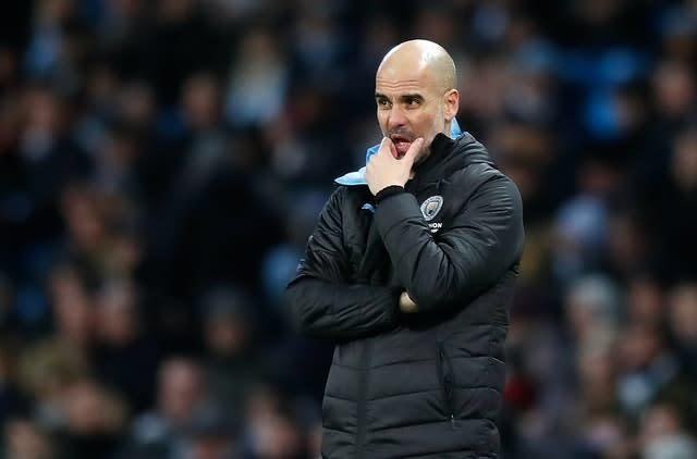 "Pep Guardiola says he has ""nothing against"" Sane (Martin Rickett/PA)"